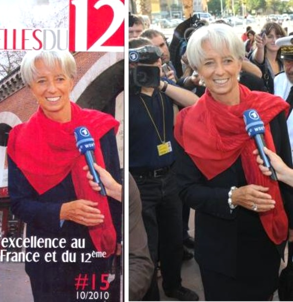christine lagarde sous photoshop