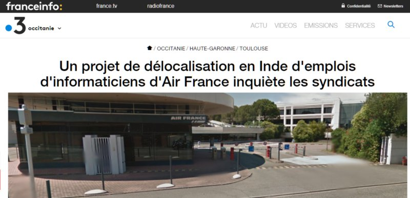 air france délocalise en Inde