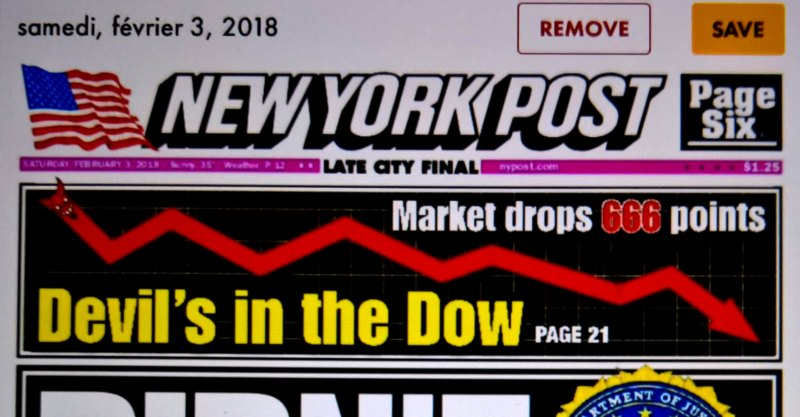 effondrement de 666 a Wall Street 2018