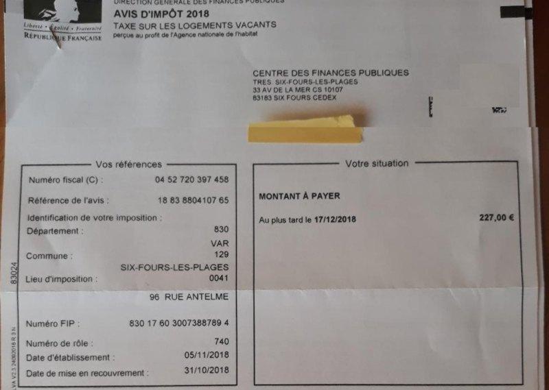 taxe sur les appartements vacants